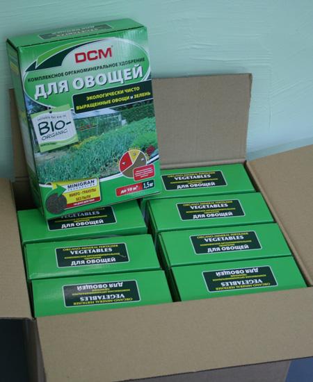 Комплексные сухие органические удобрения (коробка)